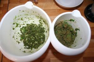 2 potten met diepvriesvoer voor endlers